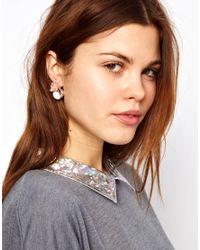 ASOS - Pink Rose Stud Earrings - Lyst
