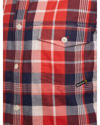 Barbour | Red Long Sleeve Luca Shirt for Men | Lyst