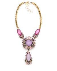 Erickson Beamon - Pink Pretty in Punk Crystal Necklace - Lyst