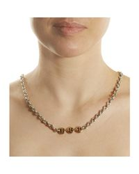 Hoorsenbuhs - Metallic Rose Gold Silver Open Link Necklace - Lyst