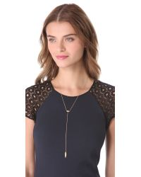 Jennifer Zeuner - Metallic Rayna Eye Lariat Necklace - Gold - Lyst