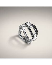 John Hardy - Metallic Small Interlinking Band Ring - Lyst
