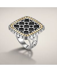 John Hardy | Black Small Square Ring | Lyst