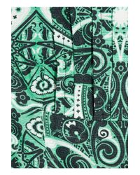 Jonathan Saunders - Green Yvie Printed Cotton-blend Twill Dress - Lyst