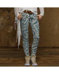 Ralph Lauren | Blue Asiatic Floral Skinny Jean | Lyst