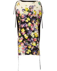 Vionnet - Yellow Printed Crepe Dress - Lyst