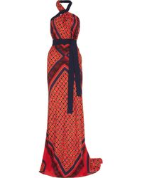 Vionnet | Multicolor Printed Stretch-silk Gown | Lyst