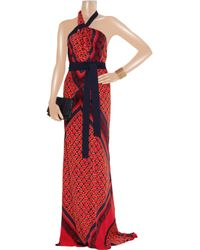 Vionnet - Multicolor Printed Stretch-silk Gown - Lyst