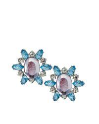 ASOS - Blue Stone Burst Stud Earring - Lyst
