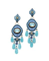 Miguel Ases | Blue Long Quartz Lapis Chandelier Earrings | Lyst