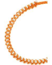 Monica Vinader - Orange Rio Sterling Silver Beaded Bracelet - Lyst