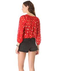 Tucker - Red Classic Blouse - Lyst