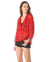 Tucker   Red Classic Blouse   Lyst