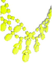ASOS - Yellow Premium Jewelled Bib Necklace - Lyst