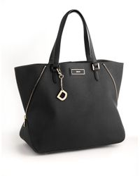 DKNY | Black Saffiano Leather Tote Bag | Lyst