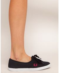 Fred Perry - Black Aubrey Canvas Trainers - Lyst