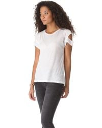 LNA - Natural Torn Pocket Tee - Army - Lyst