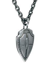 Simon Carter - Metallic Shield Necklace for Men - Lyst
