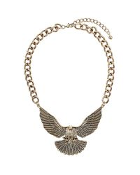 TOPSHOP | Metallic Chunky Eagle Necklace | Lyst