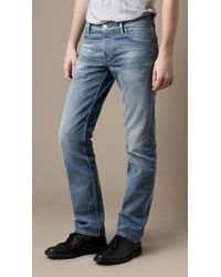 Burberry | Blue Steadman Vintage Stonewash Slim Fit Jeans for Men | Lyst