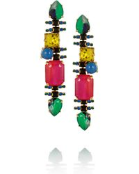 Erickson Beamon | Multicolor Aquarela Di Brasil Gold-Plated Swarovski Crystal Earrings | Lyst
