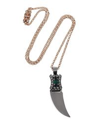 Mawi | Pink Rose Goldplated Swarovski Crystal Necklace | Lyst