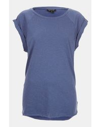 Topshop   Blue High Roller Specked Tee   Lyst