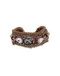 TOPSHOP | Pink Bead Facet Rhinestone Bracelet | Lyst