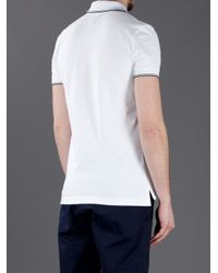 Armani Jeans | White Short Sleeve Fitted Polo Shirt for Men | Lyst
