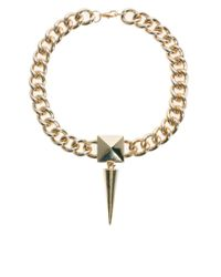 ASOS | Metallic Chunky Spike Necklace | Lyst