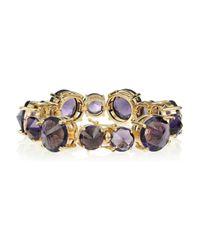 Noir Jewelry - Purple 18karat Goldplated Cubic Zirconia Bracelet - Lyst