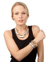 BaubleBar - White Tiger Bangle - Lyst