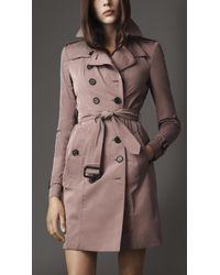 Burberry | Beige Long Taffeta Twill Trench Coat | Lyst