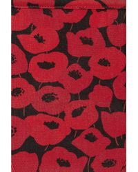 Saint Laurent - Red Printed String Bikini - Lyst