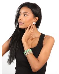 BaubleBar | Green Mint Beaded Bloom Bracelet | Lyst