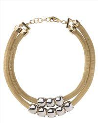 Jaeger | Metallic Tubular Chain Necklace | Lyst
