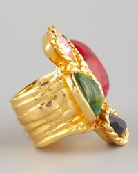 Saint Laurent - Multicolor Four Stone Arty Ring - Lyst