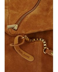 Topshop | Brown Large Box Chain Day Bag | Lyst