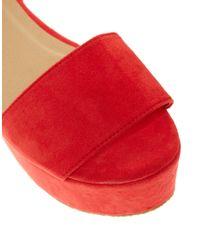 ASOS | Red Asos Humble Flatforms | Lyst