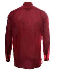 Damir Doma | Lightweight Cotton Shirt Oxblood Red for Men | Lyst