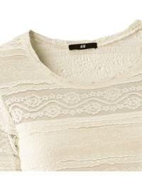 H&M   Beige Dress   Lyst
