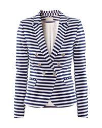 H&M | White Striped acket | Lyst