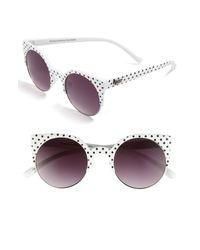 Quay | White Retro Sunglasses | Lyst