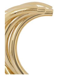 Saint Laurent - Metallic Stacked Gold-Plated Cuff - Lyst