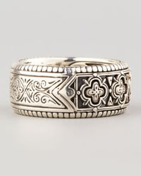 Konstantino - Metallic Carved Sterling Silver Band Ring for Men - Lyst