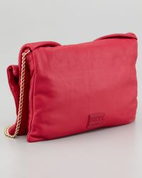 RED Valentino Red Bow Clutch Shoulder Bag Cherry