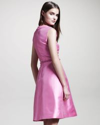 Valentino | Purple Braiddetail Mikado Dress | Lyst
