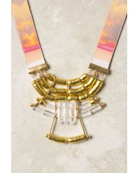 Anthropologie - Metallic Solar Spectrum Necklace - Lyst