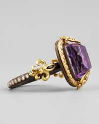 Armenta - Purple 18k Gold Fleur De Lis Sugilite Ring - Lyst