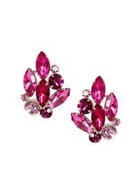 ASOS - Pink Stone Bouquet Stud Earrings - Lyst